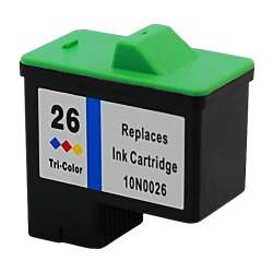 Remanufactured Lexmark 10N0026 (#26) inkjet cartridge - color