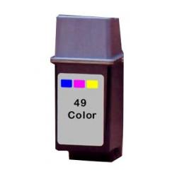 Remanufactured HP 51649A (HP 49) inkjet cartridge - color