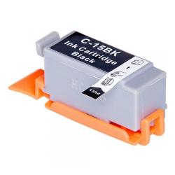 Compatible inkjet cartridge for Canon BCI-15Bk - black