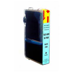 Compatible inkjet cartridge for Canon BCI-3ePC - photo cyan