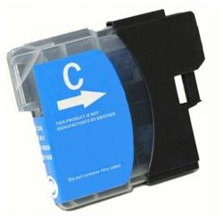 Compatible inkjet cartridge for Brother LC61C - cyan