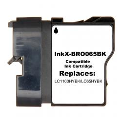 Compatible inkjet cartridge for Brother LC65HYBK - black