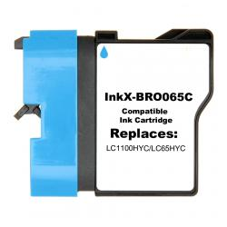 Compatible inkjet cartridge for Brother LC65HYC - cyan
