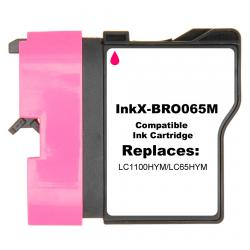 Compatible inkjet cartridge for Brother LC65HYM - magenta