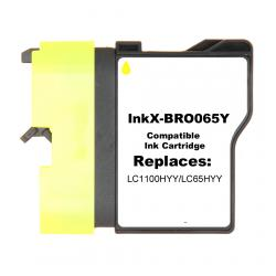 Compatible inkjet cartridge for Brother LC65HYY - yellow