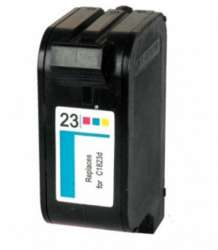 Remanufactured HP C1823A (HP 23) inkjet cartridge - color