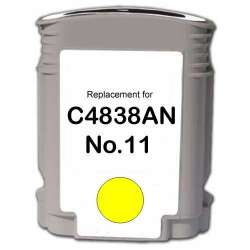 Remanufactured HP C4838a (HP 11) inkjet cartridge - yellow