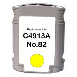 Remanufactured HP C4913A (HP 82) inkjet cartridge - yellow
