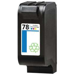 Remanufactured HP C6578 (HP 78) inkjet cartridge - color