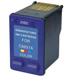 Remanufactured HP C6657 (57) inkjet cartridge - color