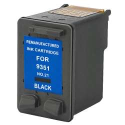 Remanufactured HP C9351AN (HP 21) inkjet cartridge - black