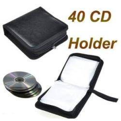 CD Wallet, DVD Storage, CD Holder (48 CD), Black