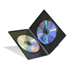 Double DVD Cases (Slim Dual DVD Cases) - Black DVD cases
