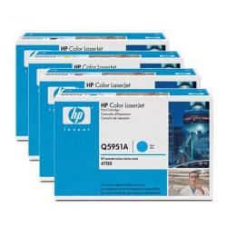 Original HP Q5950A / Q5951A / Q5952A / Q5953A toner cartridges - 4-pack