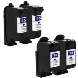 Remanufactured inkjet cartridges Multipack for HP 45/78 - 4 pack