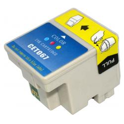 Remanufactured Epson T067 inkjet cartridge - color