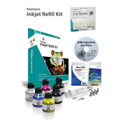 Uni-Kit Inkjet Refill Kit - 4 Color Kit for Epson - Black, Color, Epson Chip Resetter