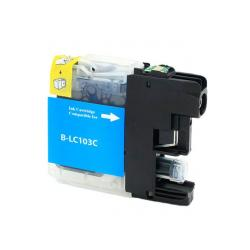 Compatible inkjet cartridge for Brother LC103C / LC101C - high yield cyan