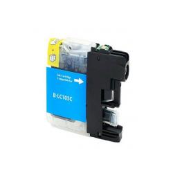 Compatible inkjet cartridge for Brother LC105C - super high yield cyan