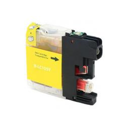 Compatible inkjet cartridge for Brother LC105Y - super high yield yellow