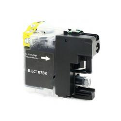 Compatible inkjet cartridge for Brother LC107BK - super high yield black
