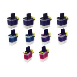 Compatible inkjet cartridges Multipack for Brother LC41 - 10 pack