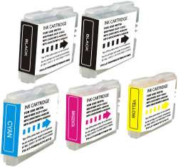Compatible inkjet cartridges Multipack for Brother LC51 - 5 pack