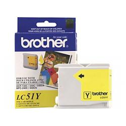 Original Brother LC51Y inkjet cartridge - yellow