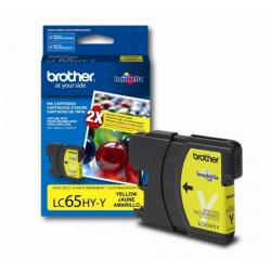 Original Brother LC65Y inkjet cartridge - yellow