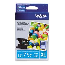 Original Brother LC75C inkjet cartridge - cyan