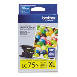 Original Brother LC75Y inkjet cartridge - yellow