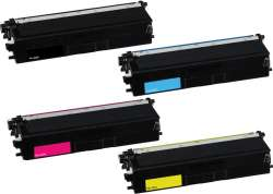 Compatible Brother TN433BK / TN433C / TN433M / TN433Y toner cartridges - 4-pack