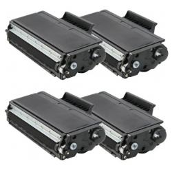 Compatible Brother TN580 toner cartridges - high capacity black - 4-pack
