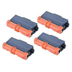 Compatible Brother TN750 toner cartridges - high capacity black - 4-pack