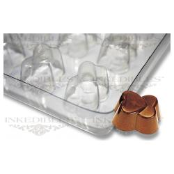 Non-Stick Transparent Chocolate Mold - Interlinked Hearts for PP-1019