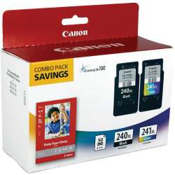 Original Canon 5206B005 (PG-240XL, CL-241XL, 50 Photo Paper Sheets) Multipack