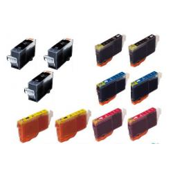 Compatible inkjet cartridges Multipack for Canon BCI-3 / BCI-6 - 11 pack