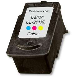 Remanufactured Canon CL-211XL inkjet cartridge - color