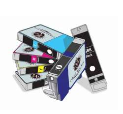 Inkedibles Edible Ink cartridges for Canon PGI-280XL / CLI-281XL - 6-pack - 2-black, cyan, magenta, yellow, photo blue