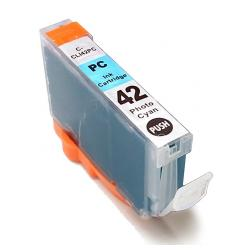 Compatible inkjet cartridge for Canon CLI-42PC - photo cyan