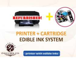 Inkedibles Canon MG5620 Bundled Printing System - REFURBISHED - includes printer (with scanner) with complete set of edible ink cartridges