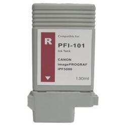 Compatible inkjet cartridge for Canon PFI-101R - red