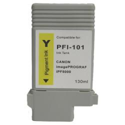 Compatible inkjet cartridge for Canon PFI-101Y - yellow