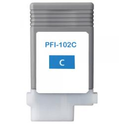 Compatible inkjet cartridge for Canon PFI-102C - cyan
