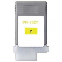 Compatible inkjet cartridge for Canon PFI-102Y - yellow
