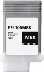 Compatible inkjet cartridge for Canon PFI-106MBK - matte black