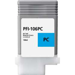 Compatible inkjet cartridge for Canon PFI-106PC - photo cyan