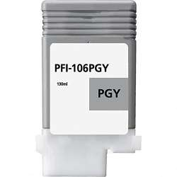 Compatible inkjet cartridge for Canon PFI-106PGY - photo gray