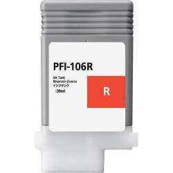 Compatible inkjet cartridge for Canon PFI-106R - red