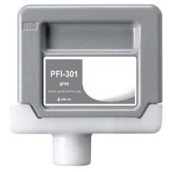 Compatible inkjet cartridge for Canon PFI-301GY - gray